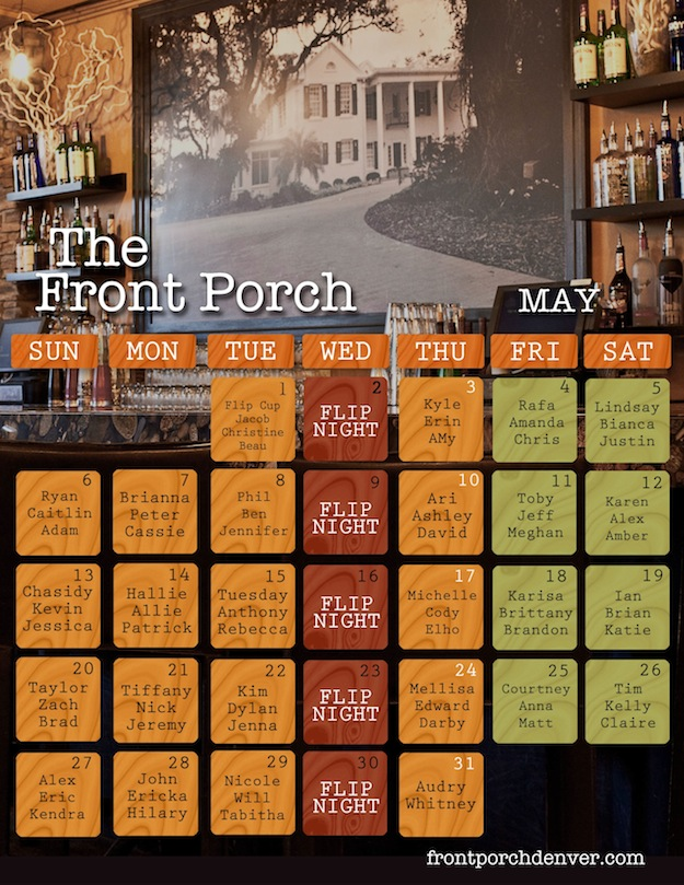 Front Porch Calendar May 2012
