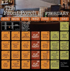 February name night calendar