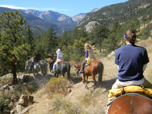 Horseback Riding is a great activity in the Rocky Mountains