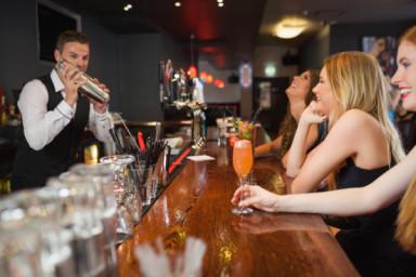 Good looking people at bar