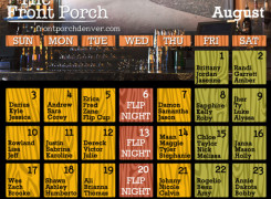 August Name Night Calendar: A new month of free drinks!