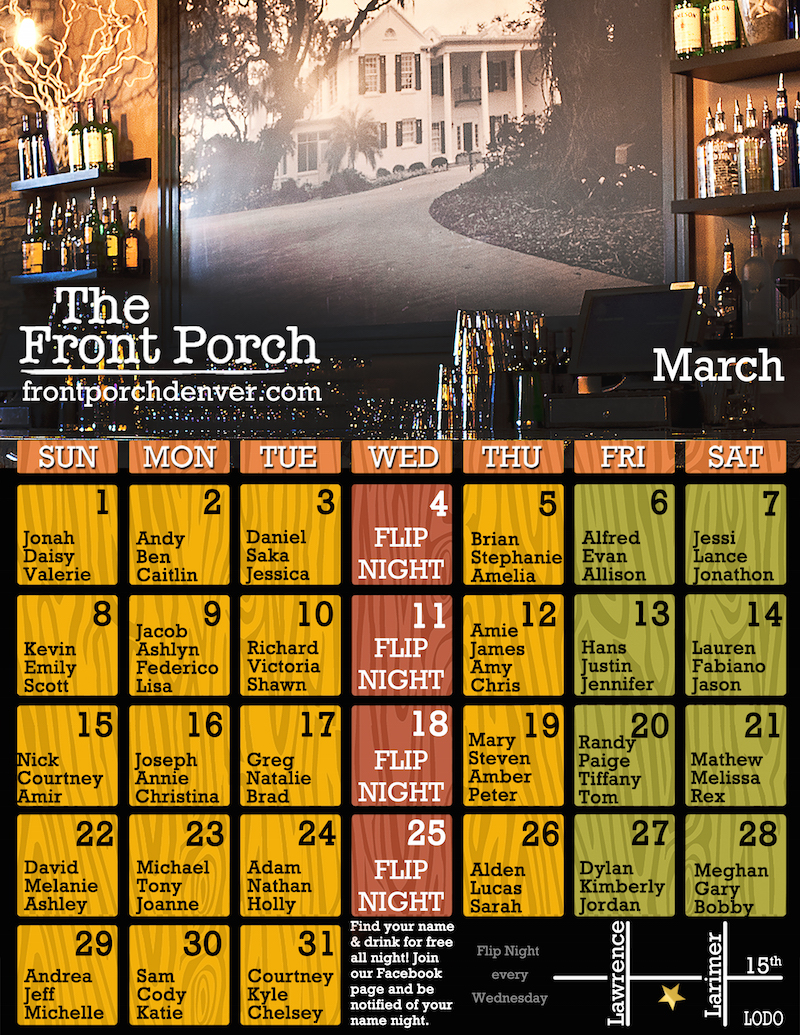 Looking For Action And Adventure? Visit The Front Porch Tonight!