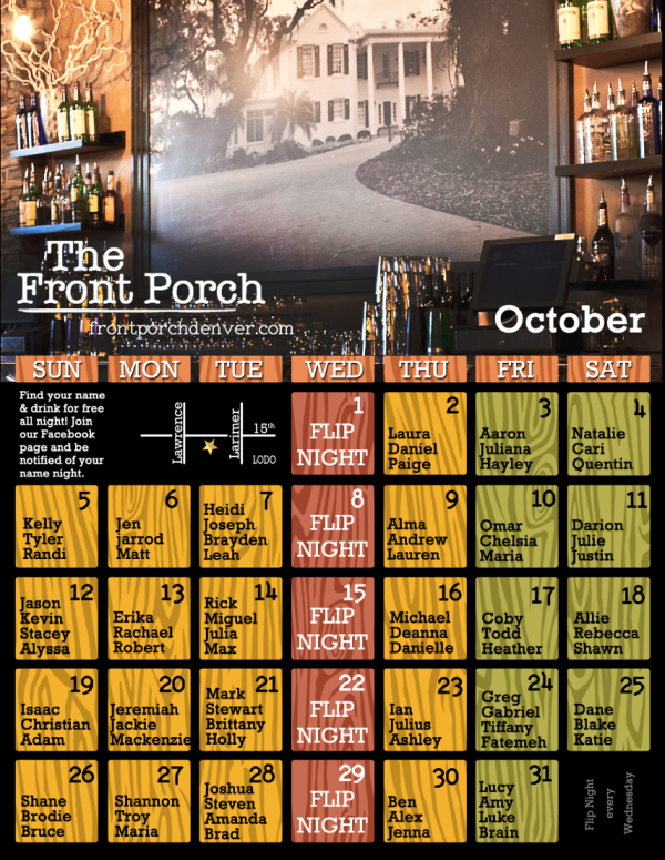 It's Time to Drink Free This October at the Front Porch